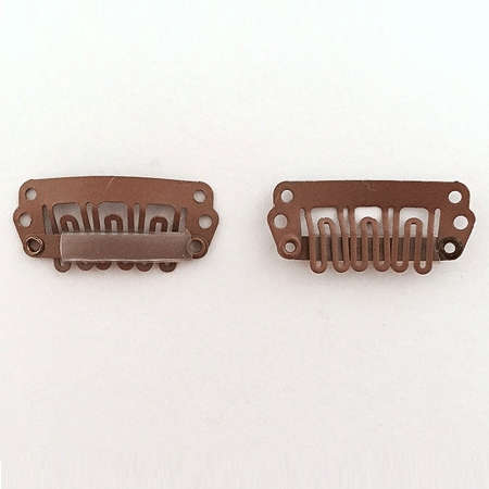 Brown teeth clips
